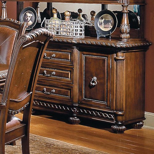 Morris Home Furnishings Antoinette Traditional Dining Buffet
