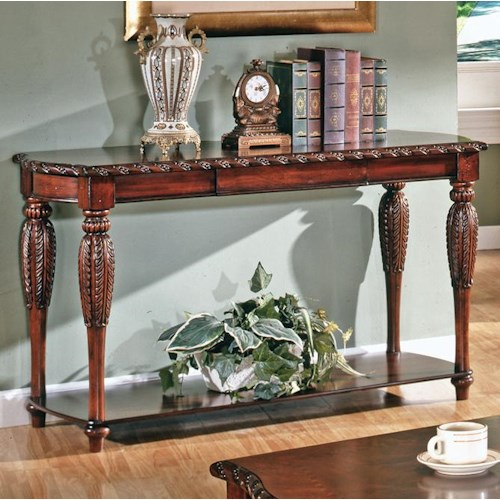 Morris Home Furnishings Antoinette Traditional 1-Shelf 1-Drawer Sofa Table