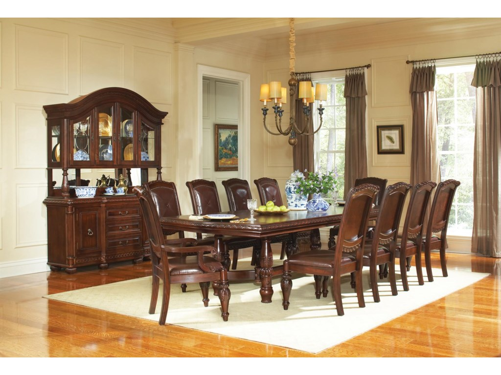 Shown in 11-Piece Dining Set with Buffet & Hutch