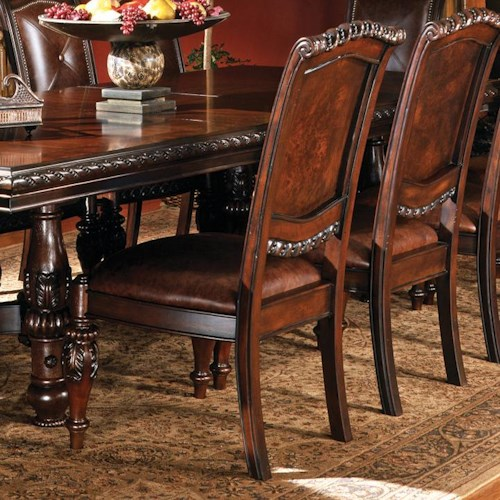 Morris Home Furnishings Antoinette Traditional Upholstered Dining Side Chair