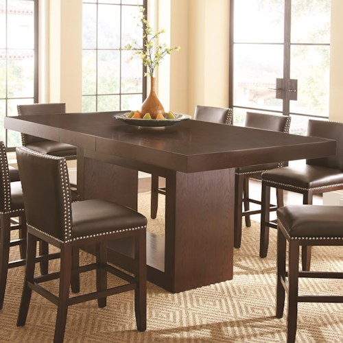 Morris Home Furnishings Antonio Counter Height Pedestal Table