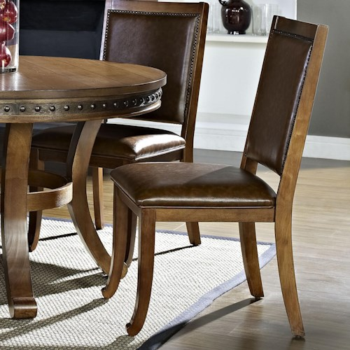 Morris Home Furnishings Ashbrook Transitional Dining Side Chair with Nailhead Accents