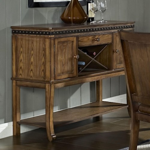 Morris Home Furnishings Ashbrook Transitional 2 Door 1 Drawer Dining Sideboard with Wine Rack