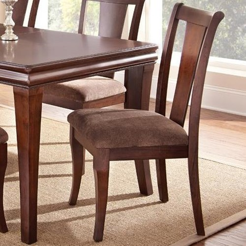 Morris Home Furnishings Aubrey Transitional Upholstered Side Chair