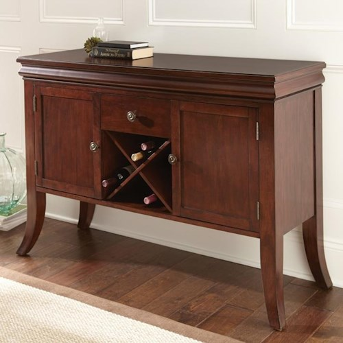 Steve Silver Aubrey Transitional Sideboard with Wine Rack