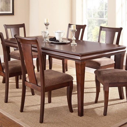 Morris Home Furnishings Aubrey Transitional Dining Room Table