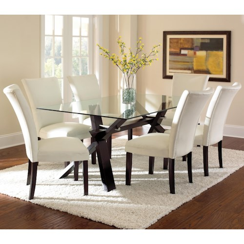 Vendor 3985 Berkley Dining Set with Parsons Chairs