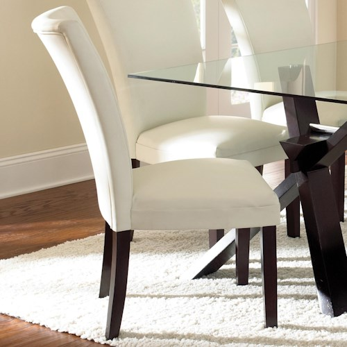 Vendor 3985 Berkley Bonded Parsons Chair with Tapered Legs