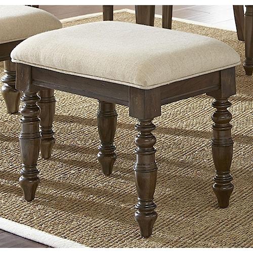 Morris Home Furnishings Bexley Standard Height Upholstered Stool