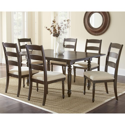 Steve Silver Bexley 7 Piece Dining Set with 2 8