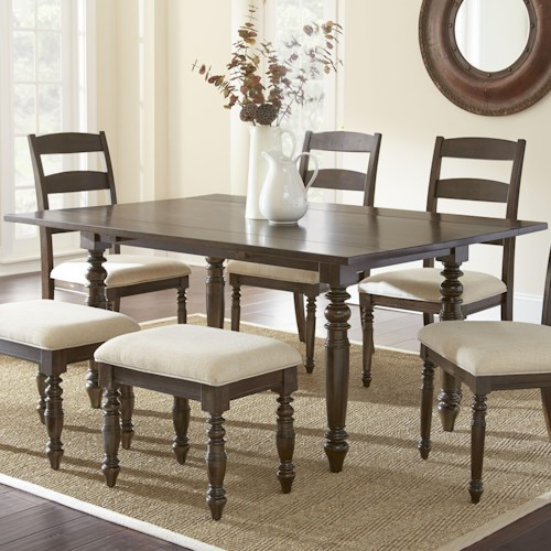Morris Home Furnishings Bexley Dining Table with 2 8