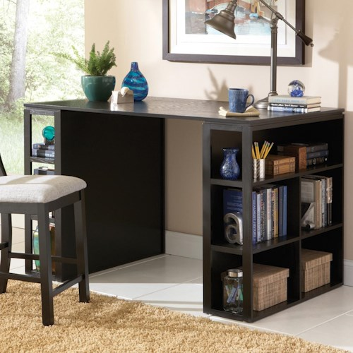 Steve Silver Bradford  Contemporary Writing Desk with Side Shelf Storage