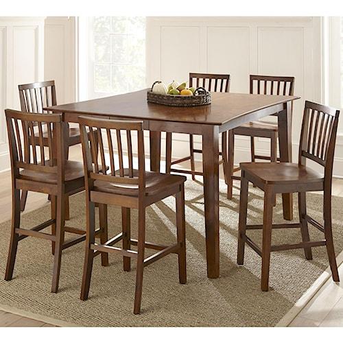 Vendor 3985 branson 7 piece counter height dining set becker furniture world dining 7 or - Furniture wereld counter ...