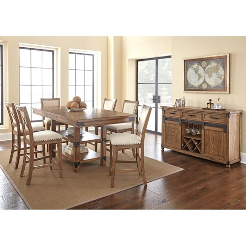 Vendor 3985 Britta Industrial Dining Room Group