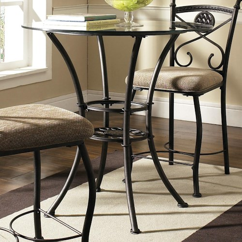 Morris Home Furnishings Brookfield Counter Table with Tempered Glass Top