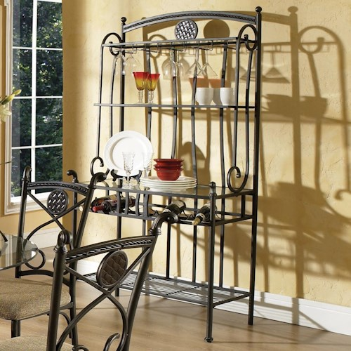 Vendor 3985 Brookfield Baker's Rack with 3 Shelves