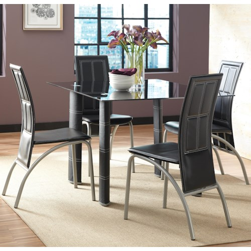 Morris Home Furnishings Calvin 5 Piece Dining Set with Upholstered Chairs