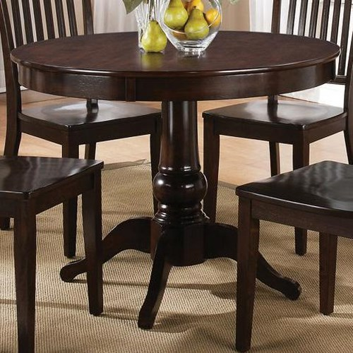 Morris Home Furnishings Candice Round Casual Pedestal Table