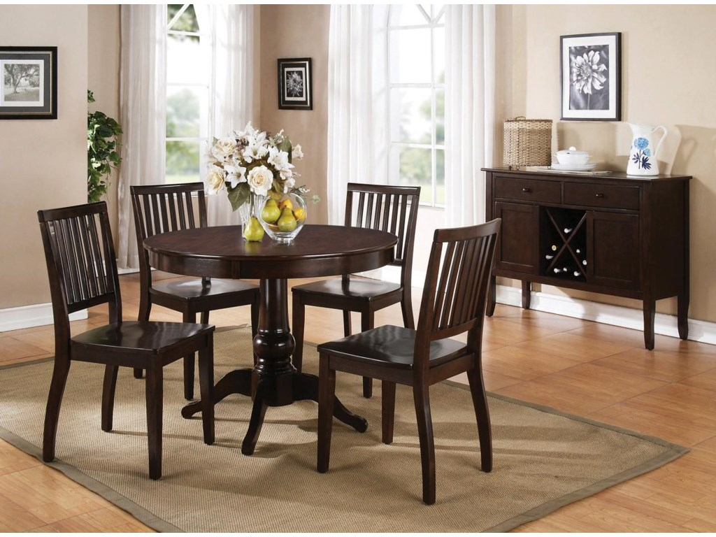 Shown with Side Chairs and Server