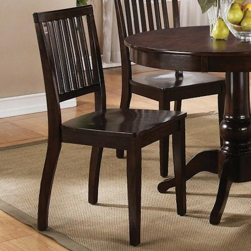 Morris Home Furnishings Candice Candice Side Chair with Slat Back