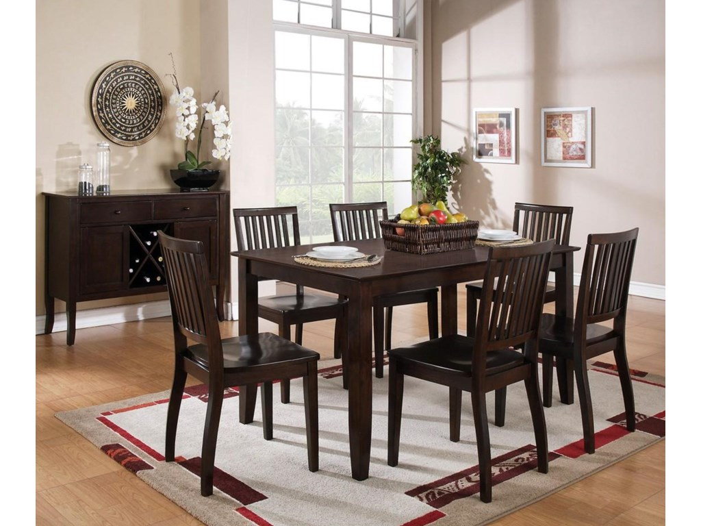Shown with Rectangular Dining Table and Server