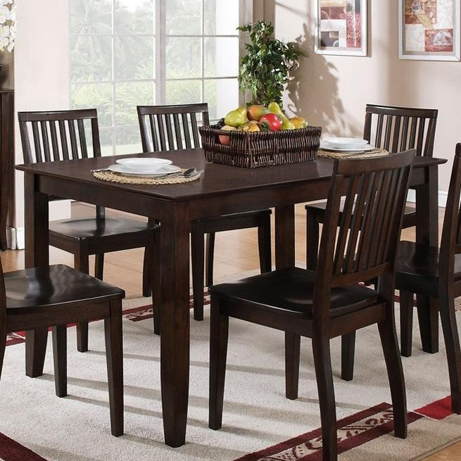 Set Includes Rectangular Table
