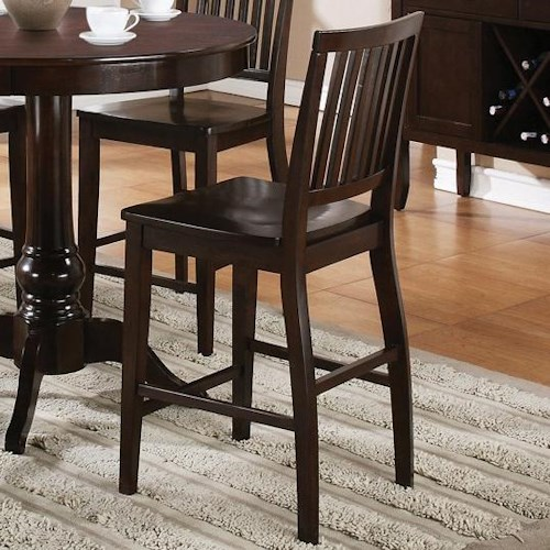 Morris Home Furnishings Candice Counter Chair with Slat Back