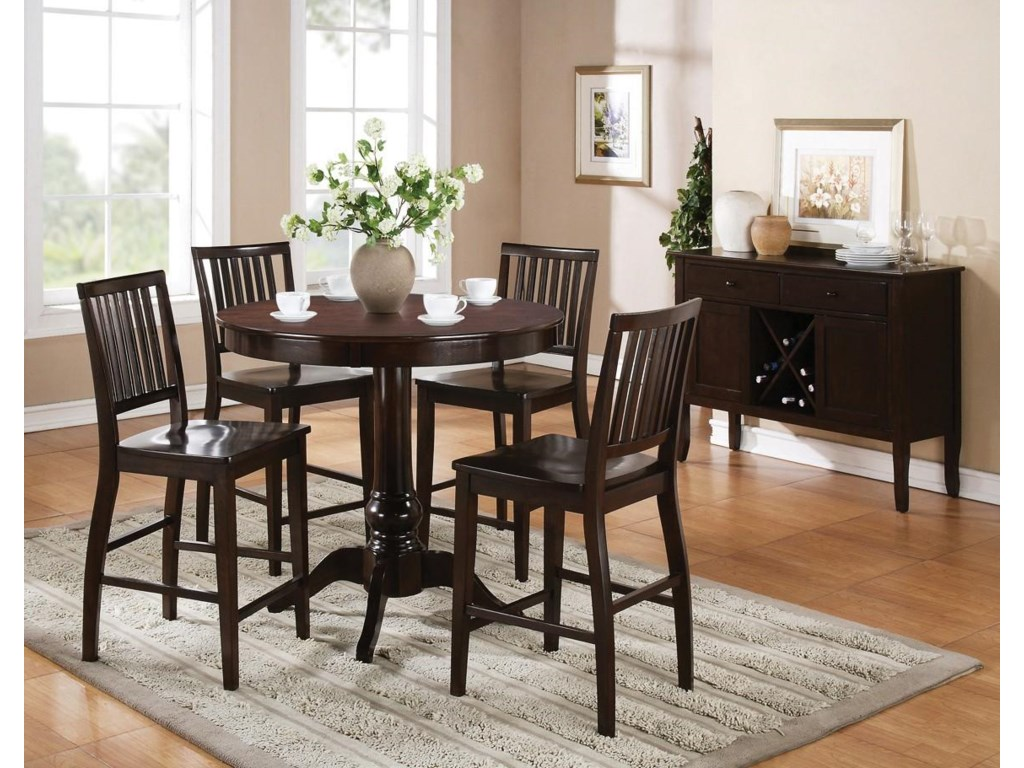 Shown with Counter Pedestal Table and Server