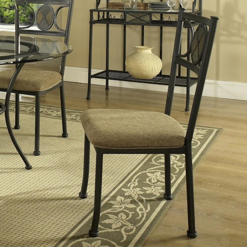 Steve Silver Carolyn Casual Side Chair with Seat Cushion