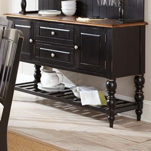 Morris Home Furnishings Carrolton Buffet with Trestle Base