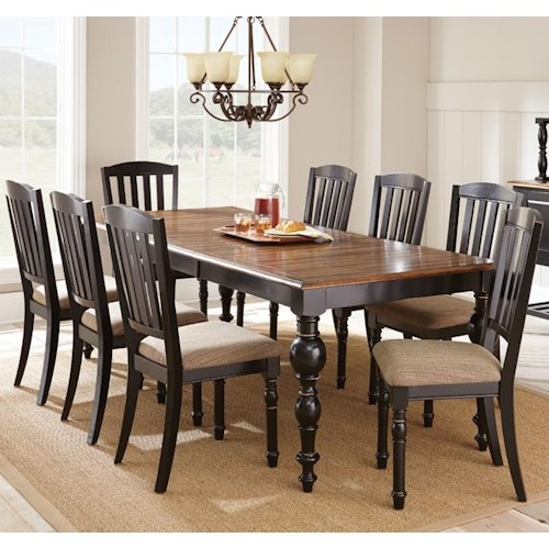Steve Silver Carrolton 9 Piece Dining Set with 24