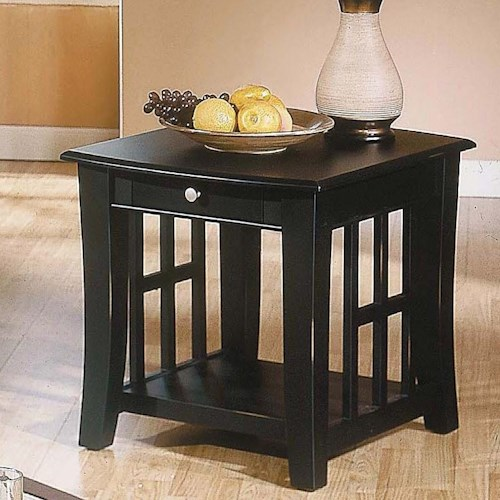 Morris Home Furnishings Cassidy  1 Drawer End Table