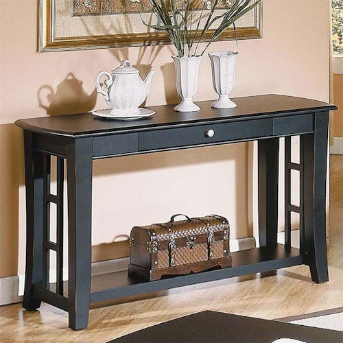 Morris Home Furnishings Cassidy  1 Drawer Sofa Table