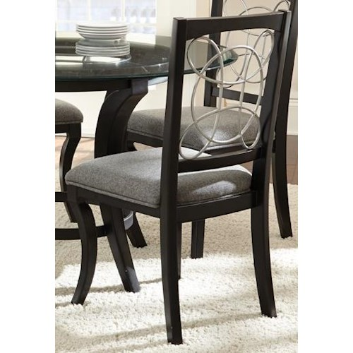 Morris Home Furnishings Cayman Upholstered Side Chair with Decorative Back