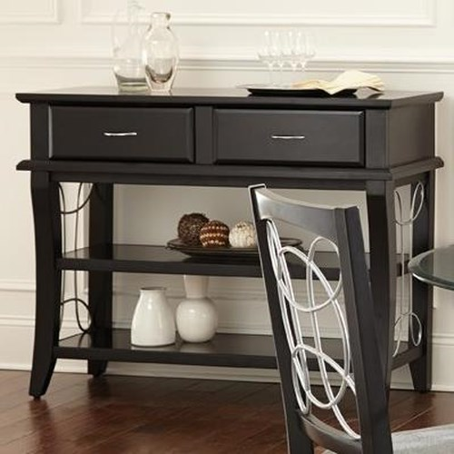 Morris Home Furnishings Cayman Server with 2 Shelves