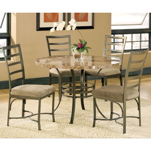 Steve Silver Collison 5 Piece Round Table Set with Side Chairs
