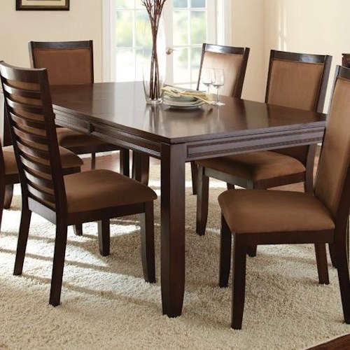 Morris Home Furnishings Cornell Formal Rectangular Dining Table with 18