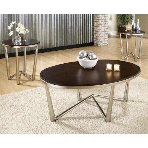 Morris Home Furnishings Cosmo  3 Pack Contemporary Occasional Table Set
