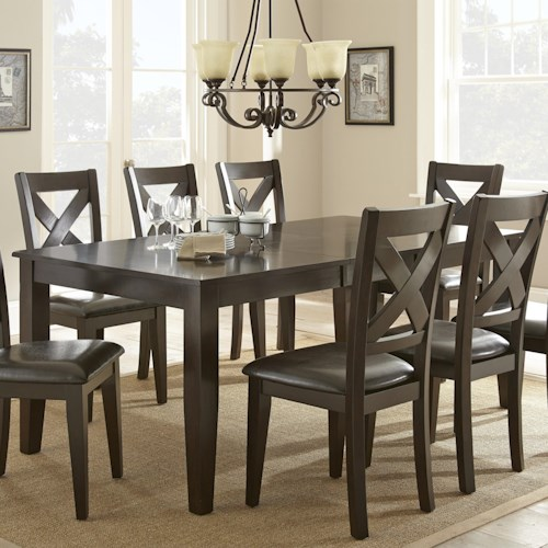 Vendor 3985 Crosspointe Dining Table with 18