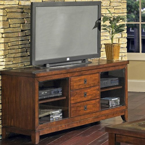 Morris Home Furnishings Davenport  3-Drawer 2-Shelf Transitional TV Stand