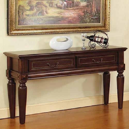 Morris Home Furnishings Davina 2 Drawer Traditional Sofa Table with Nailhead Trim