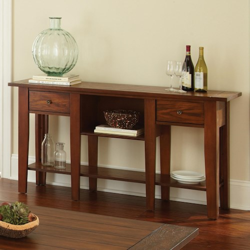 Vendor 3985 Desoto Sofa Table with 2 Drawers