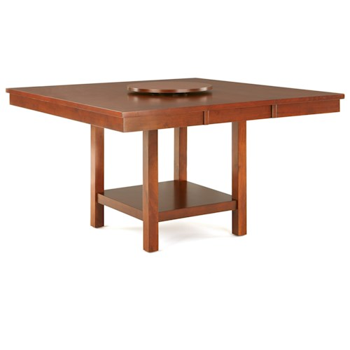 Steve Silver Eden Casual Cherry Pedestal Dining Table with 16