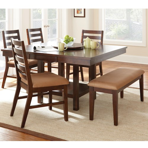 Vendor 3985 Eden 6 Piece Dining Set with Bench