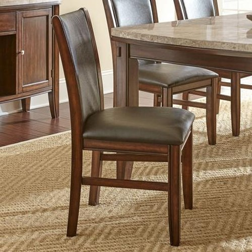 Steve Silver Eileen Dining Side Chair with Vinyl Upholstery