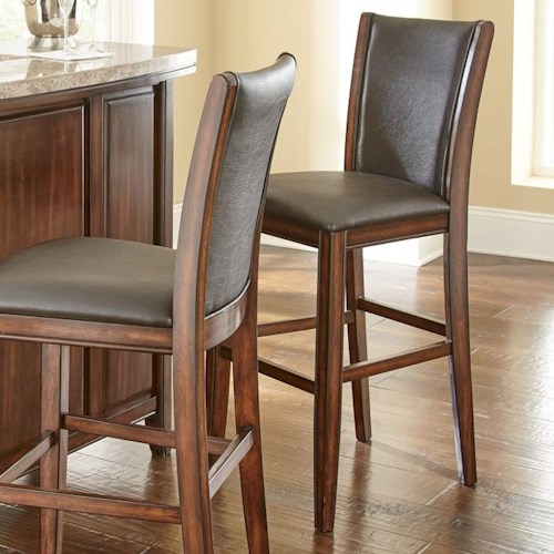 Morris Home Furnishings Eileen Bar Stool with Vinyl Upholstery