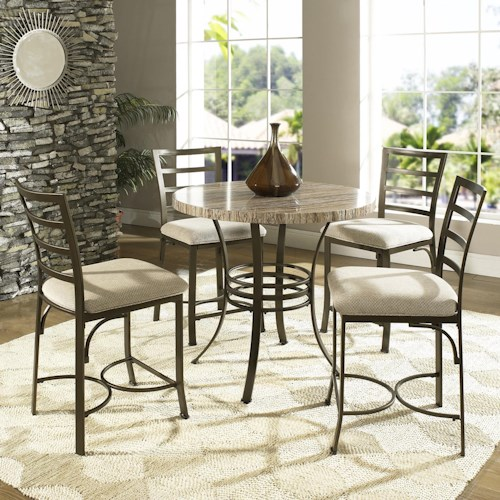 Steve Silver Ellen 5-Piece Counter Height Table & Chairs Set