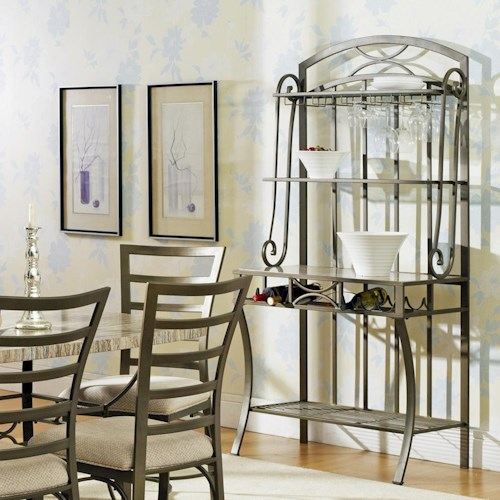 Morris Home Furnishings Ellen Metal Backers Rack