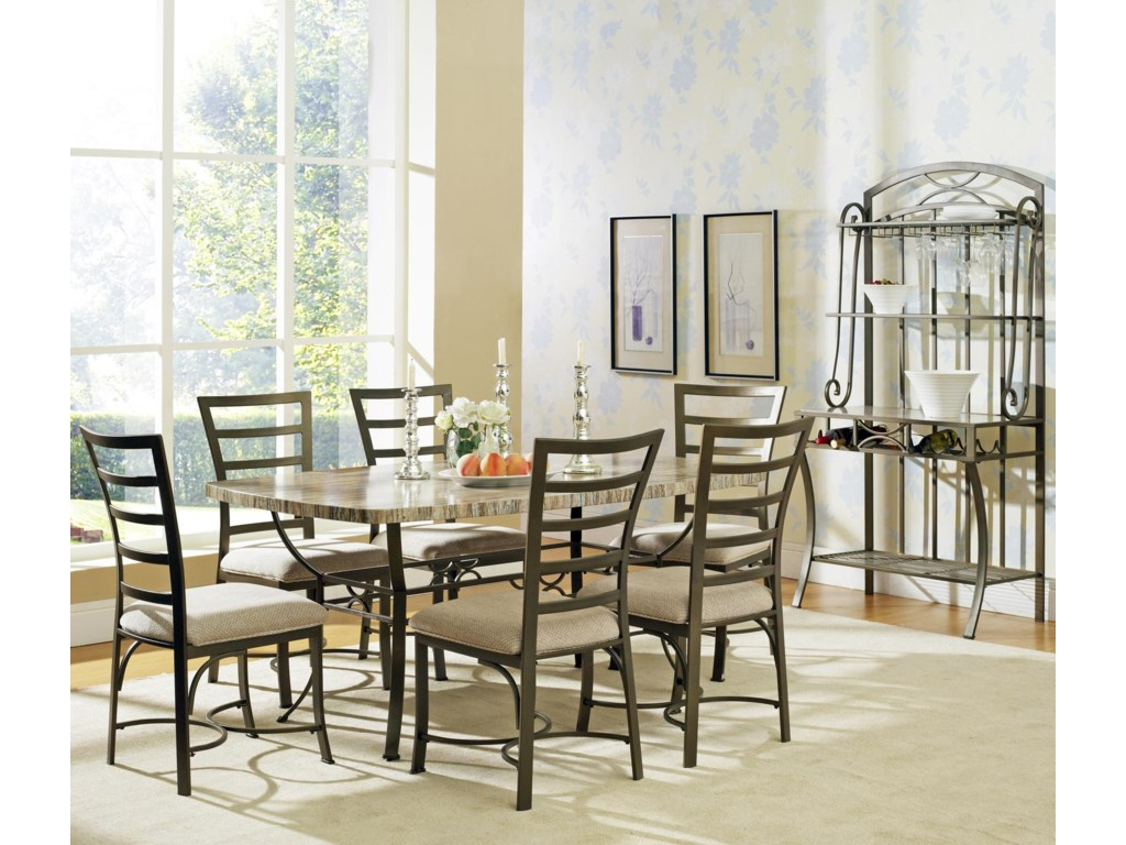 Shown with Rectangular Table and Side Chairs