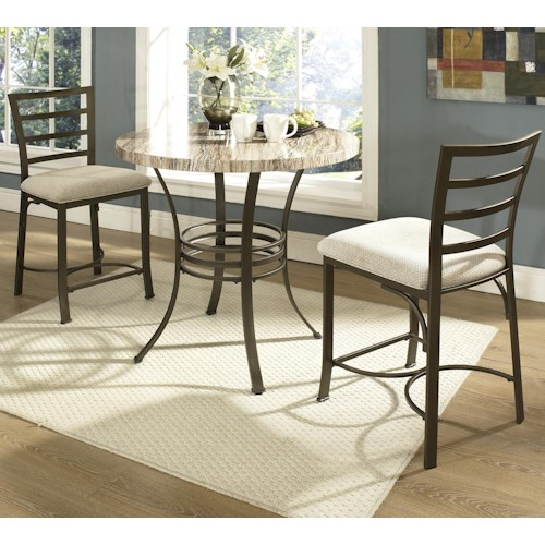 Steve Silver Ellen 3-Piece Counter Height Table & Chairs Set